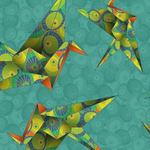 Origami Cranes Washi Umbrellas