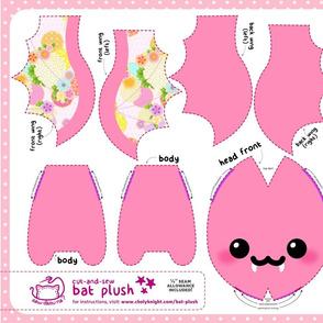 Cut & Sew Pink Kimono Bat Plush