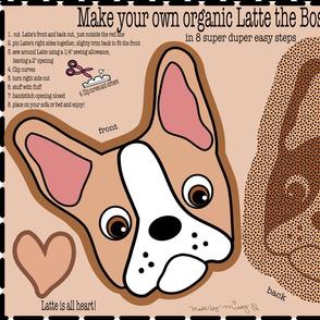 Latte the Boston Terrier Pillow