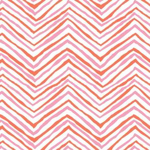 zig zag orange pink chevron stripes
