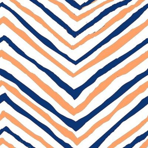 navy blue orange zig zag chevron tigers clemson football