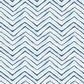 navy blue carolina blue light zig zag chevron