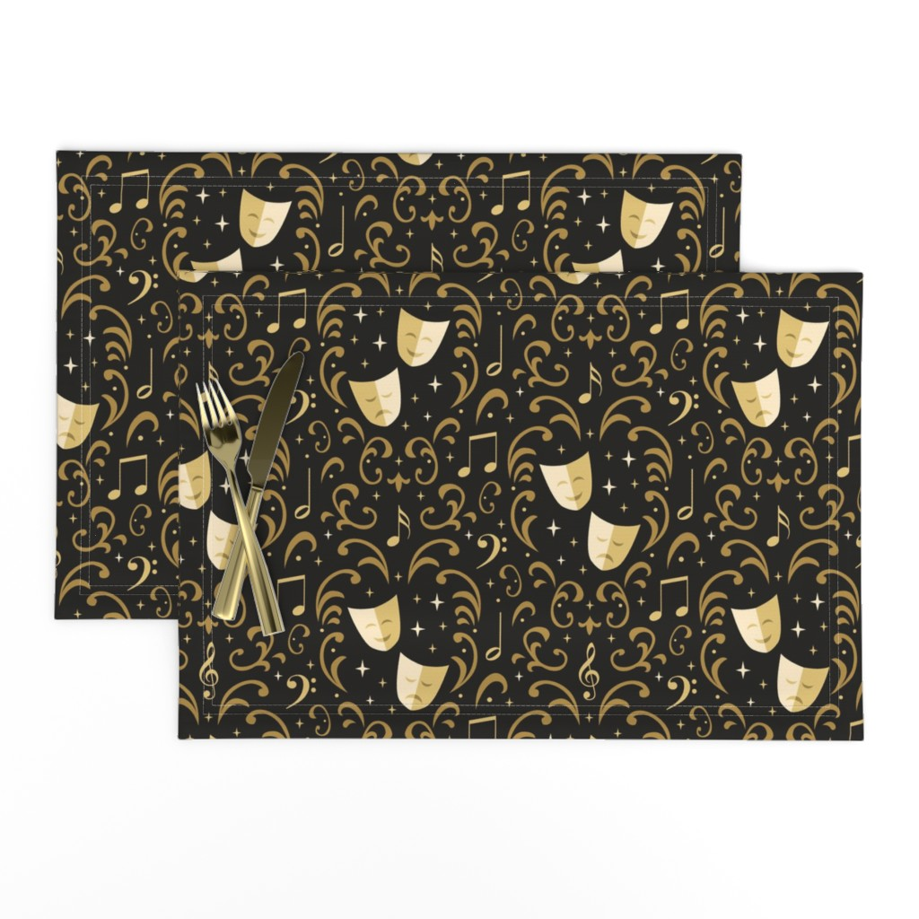Lamona Cloth Placemats featuring Theater Damask by robyriker