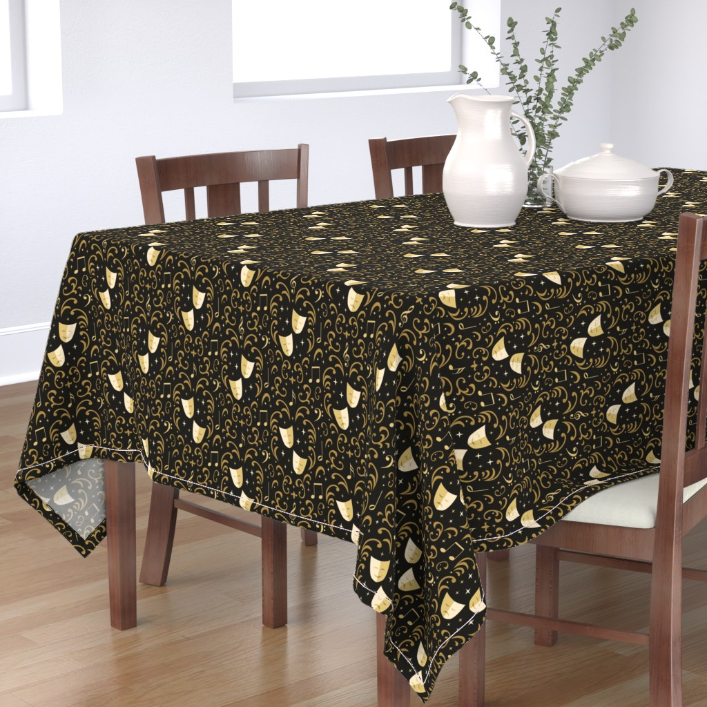 Bantam Rectangular Tablecloth featuring Theater Damask by robyriker