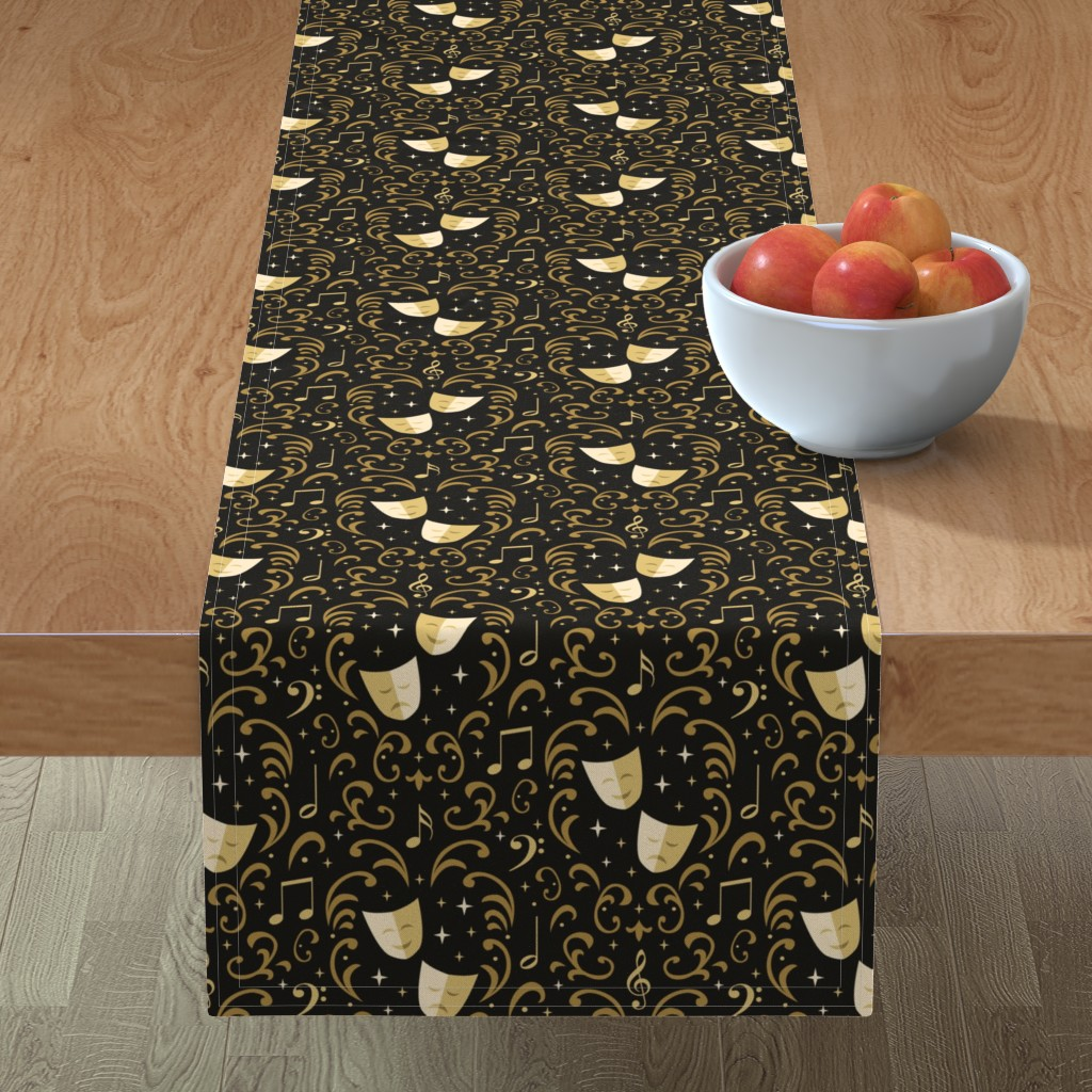 Minorca Table Runner featuring Theater Damask by robyriker