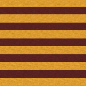 """1.5"""" Gryffin Stripe - Basic Textured - Gold And Maroon"""