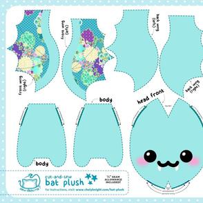 Cut & Sew Aqua Kimono Bat Plush