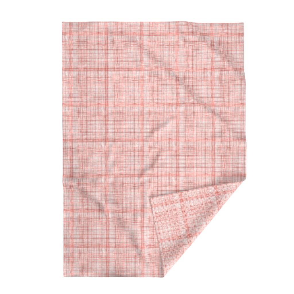 Lakenvelder Throw Blanket featuring Prairie Gingham Faded Red by katebillingsley