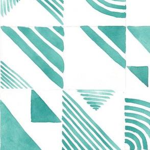 Watercolor Tiles - Aqua