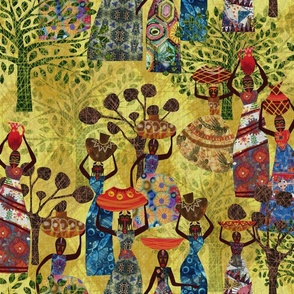 Women of Africa a Tapestry of life