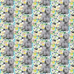 Westie West Highland white terrier bones paws woof