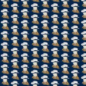 Joseph's Hat Shop, Navy background
