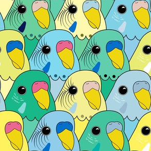Birbs on Birbs on Birbs (Yellow Blue Green)