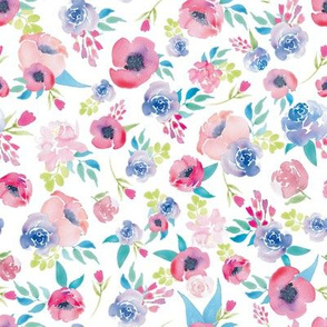 Watercolor Floral Boho Spring Floral