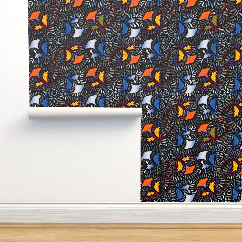 Isobar Durable Wallpaper featuring African Flowers by twix