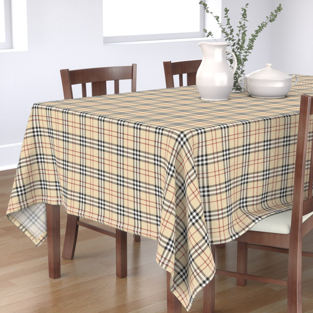 Bantam Rectangular Tablecloth featuring British Plaid Large Scale by fluffycloudcouture