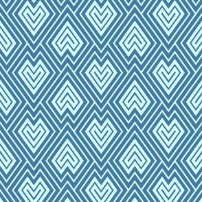 Kilim scales in blue tones