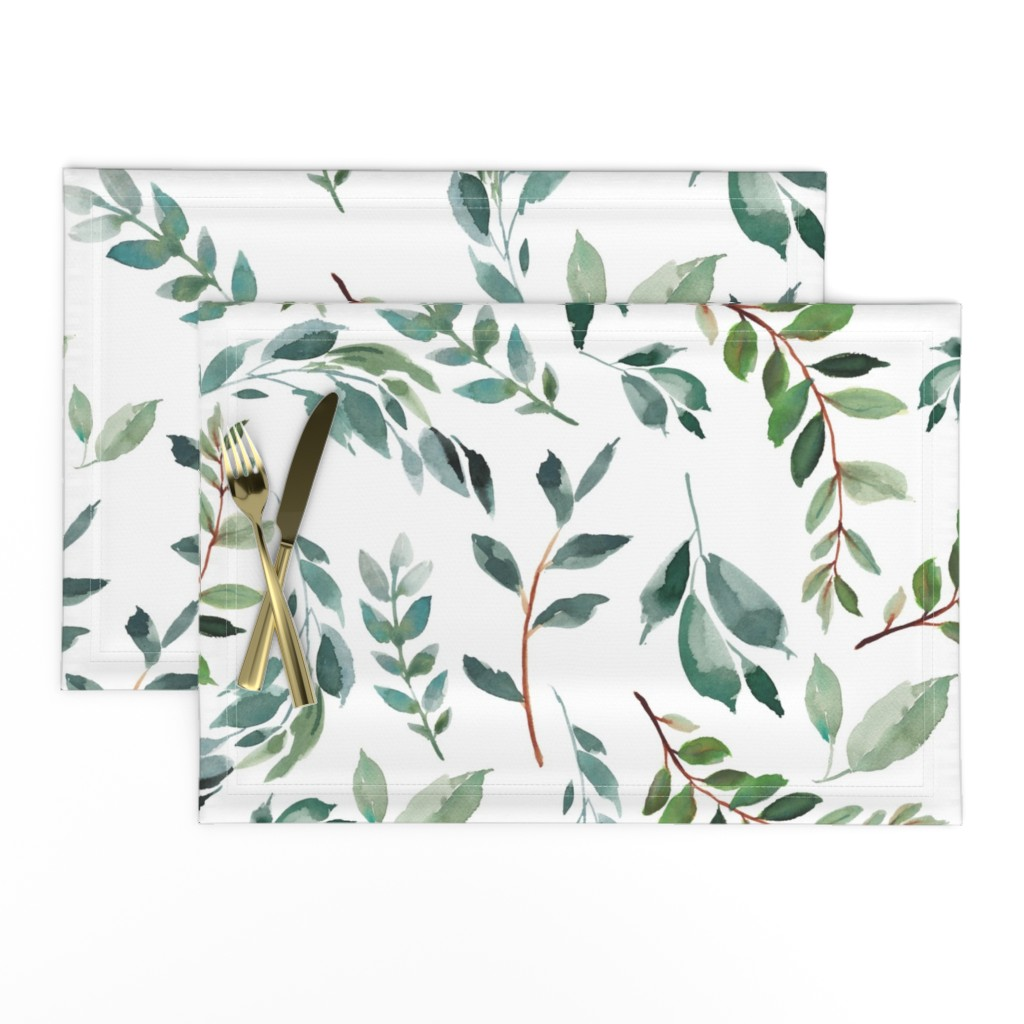 """Lamona Cloth Placemats featuring 43"""" Wild at Heart Branches / White by shopcabin"""