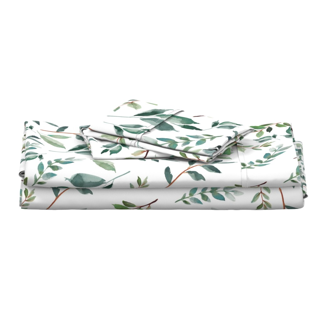 """Langshan Full Bed Set featuring 43"""" Wild at Heart Branches / White by shopcabin"""