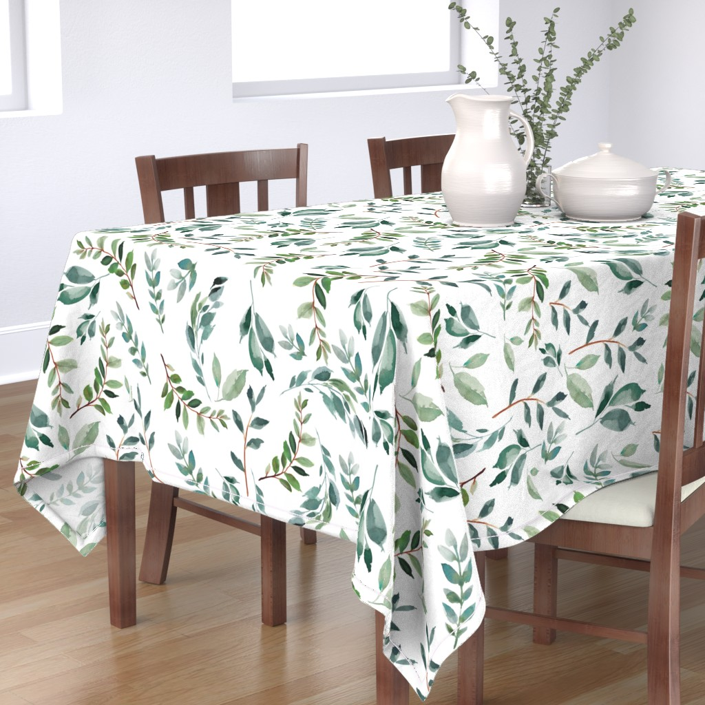 """Bantam Rectangular Tablecloth featuring 43"""" Wild at Heart Branches / White by shopcabin"""
