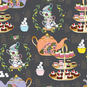 A Spoonful of Sugar for HoPE, Tea Fabric, Tea Time, Tea Party