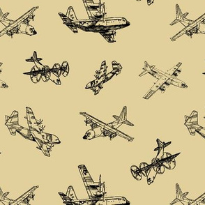 C130s on Tan // Small