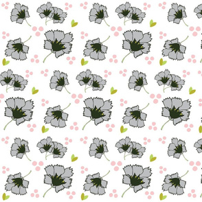 Spring blooms MED7- gray petal
