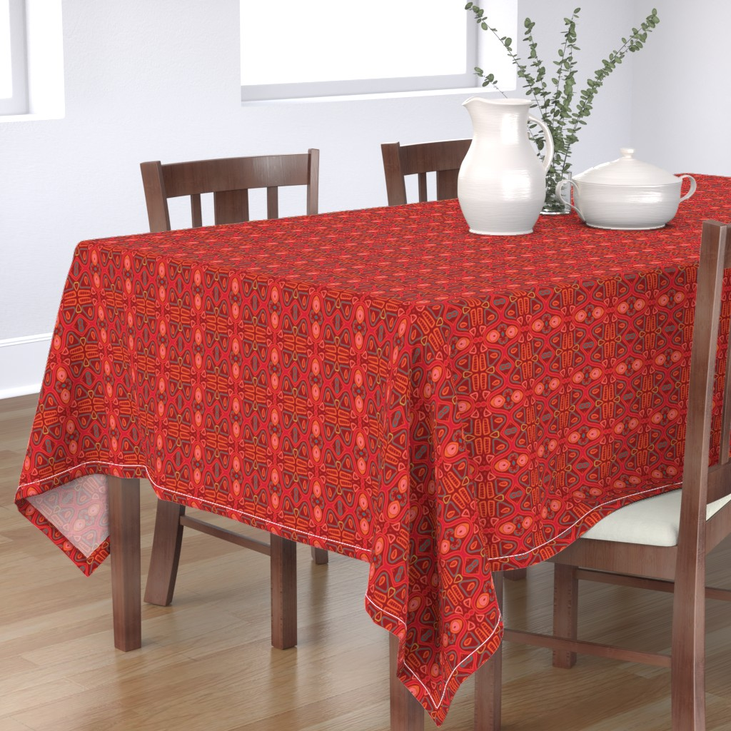 Bantam Rectangular Tablecloth featuring Dance of the Ages by nettieandliz