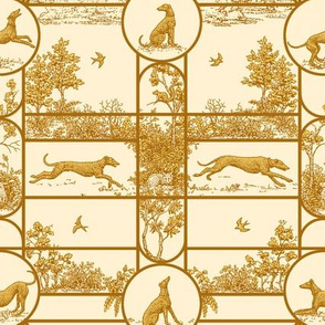 Autumn Gold, Greyhound Toile ©2011 by Jane Walker