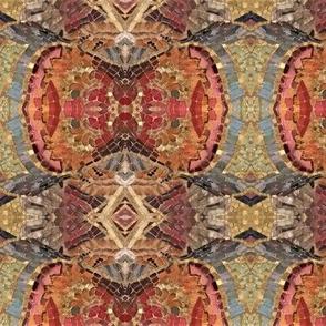 Mosaic orange motif