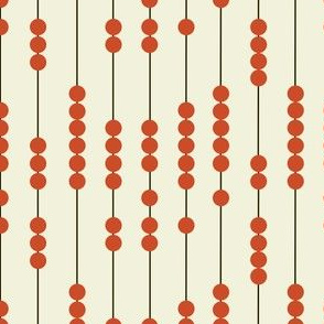 Chinese Red Abacus Beads, Math and Numbers, Educational Print