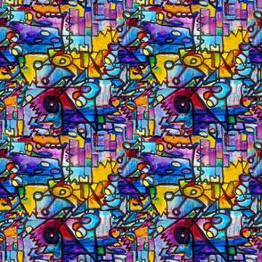 Suburban Beat sharp seamless tiling pattern
