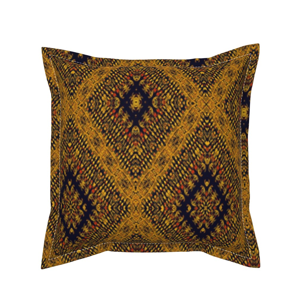 Serama Throw Pillow featuring Kilim by kedoki in Hawaiian colors by kedoki