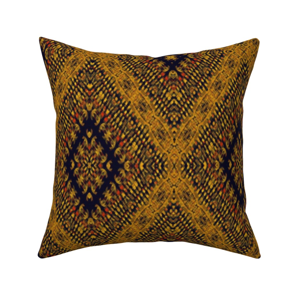 Catalan Throw Pillow featuring Kilim by kedoki in Hawaiian colors by kedoki