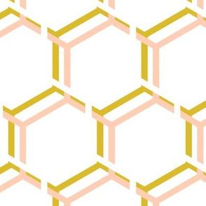 Honeycomb, Large,  Honey House Peach Gold White