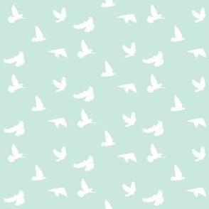 Doves in Flight, Sea Spray