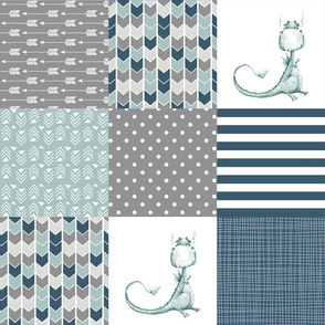 Dragon Tails  - Wholecloth Cheater Quilt