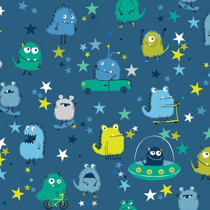 monsters in space A