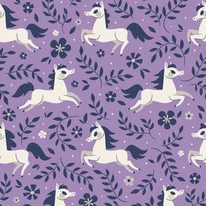 Floral Ponies (Purple)