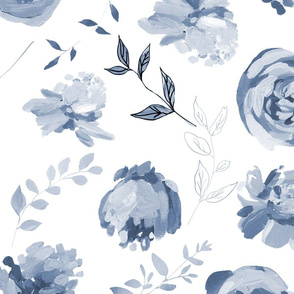 """Spring 2018 Painted Floral Collection BLUESCALE 6"""""""