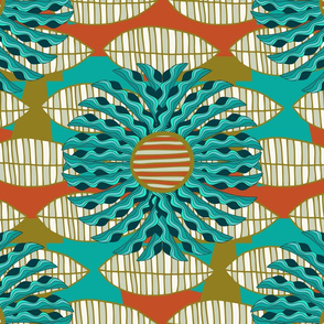 African Leaf Mandala