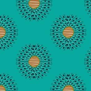 Leaf Mandala - Turquoise