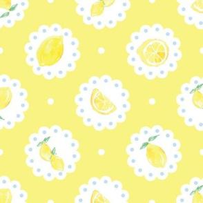 Lemons on Doilies Summer Lemon Yellow