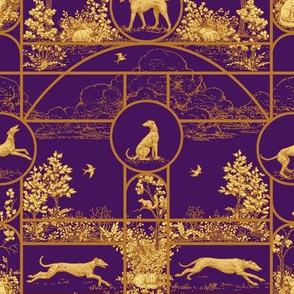 Autumn Purple Medium, Toile Greyhounds