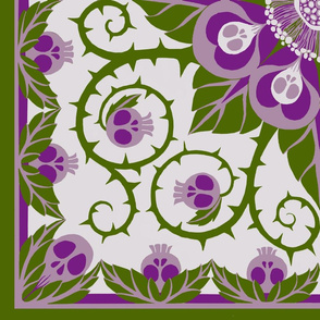 Deadly Nightshade Hawaiian Quilt ( with bonus pillow fronts for larger bolts)