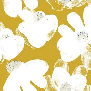 Wildflowers M+M Ocher by Friztin