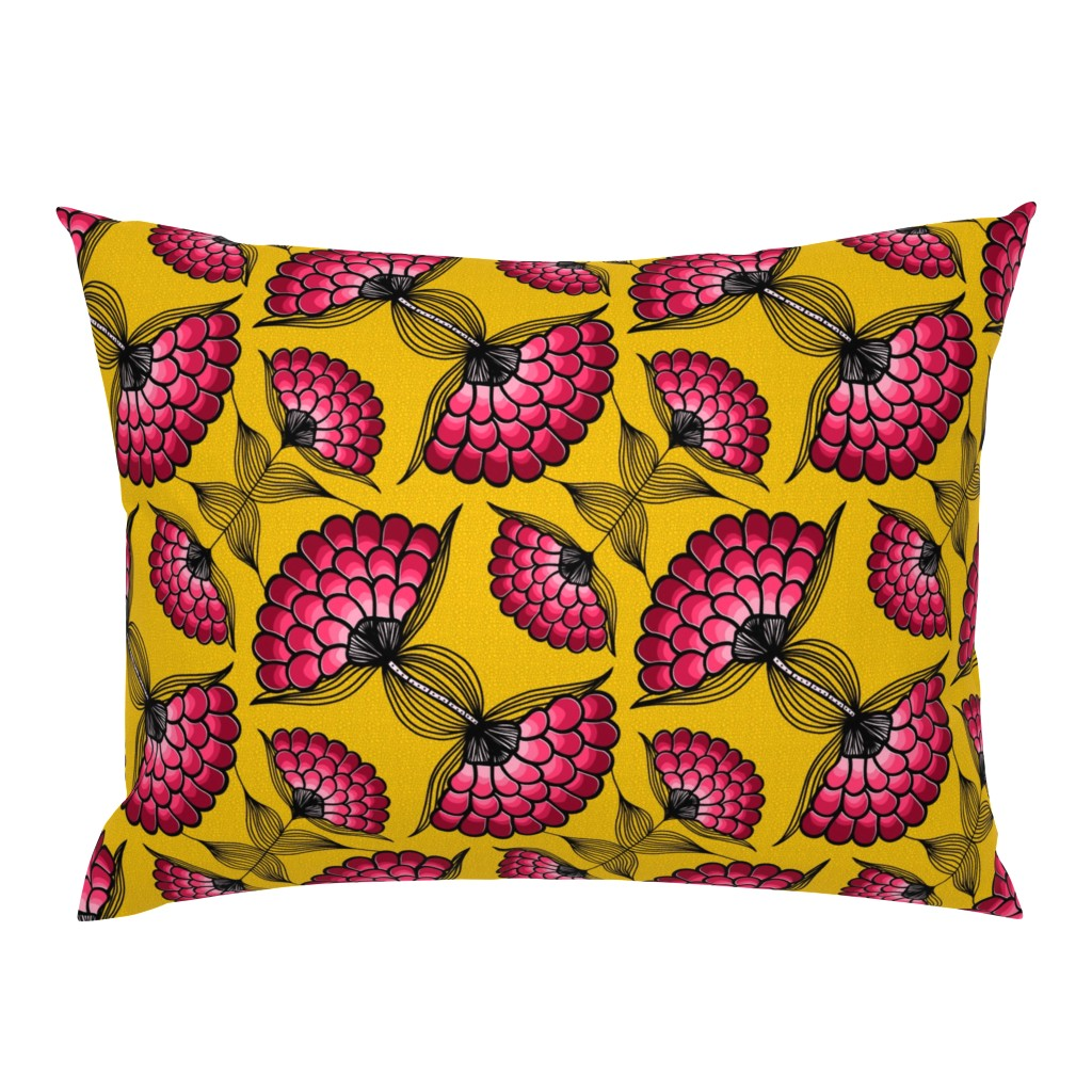 Campine Pillow Sham featuring African Art Cloth by thewellingtonboot