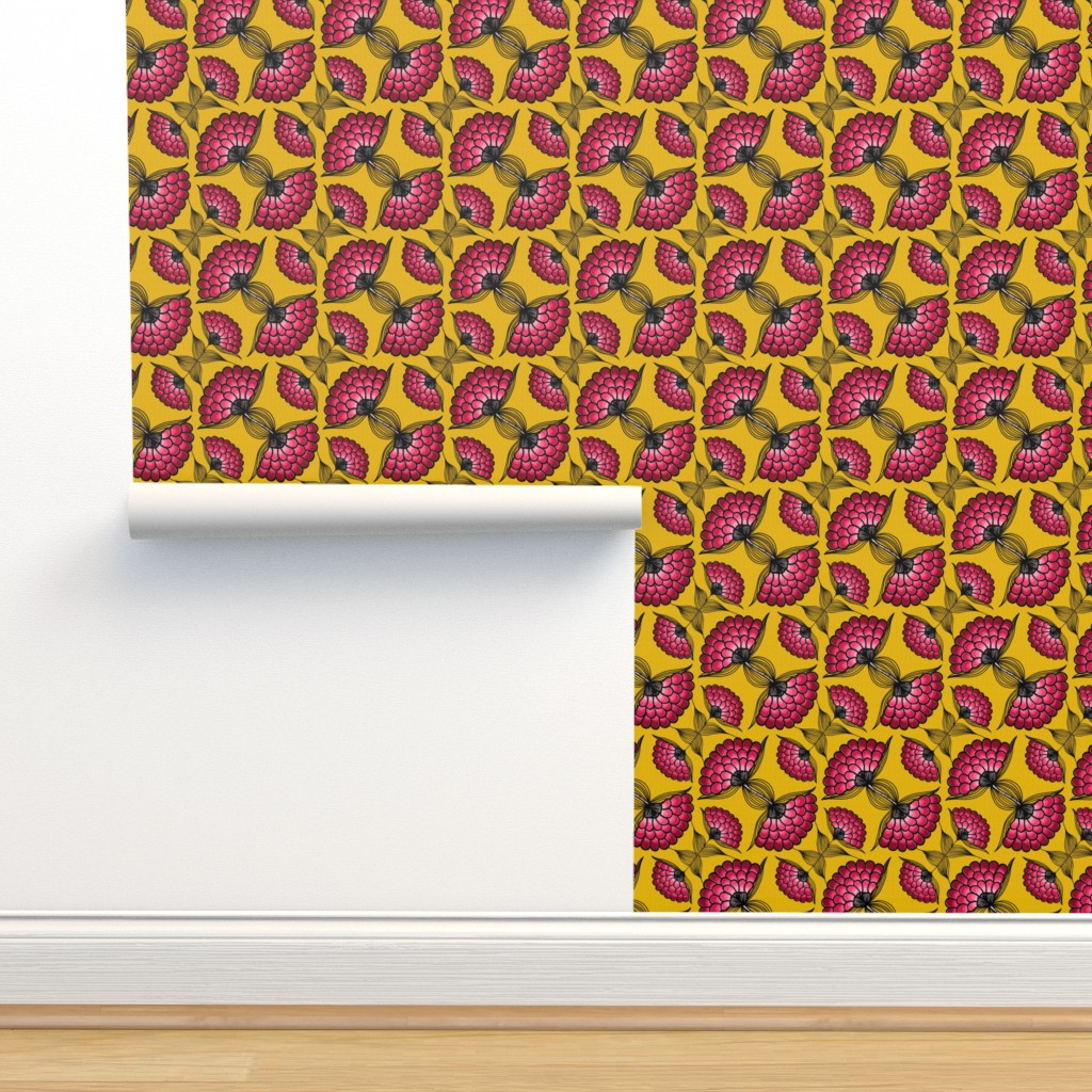 Isobar Durable Wallpaper featuring African Art Cloth by thewellingtonboot