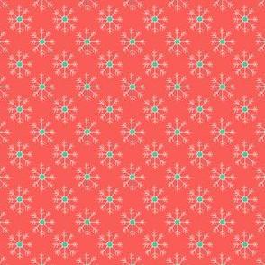 Orange and White Snowflakes