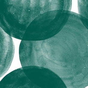 Watercolor Dots M+M Evergreen by Friztin